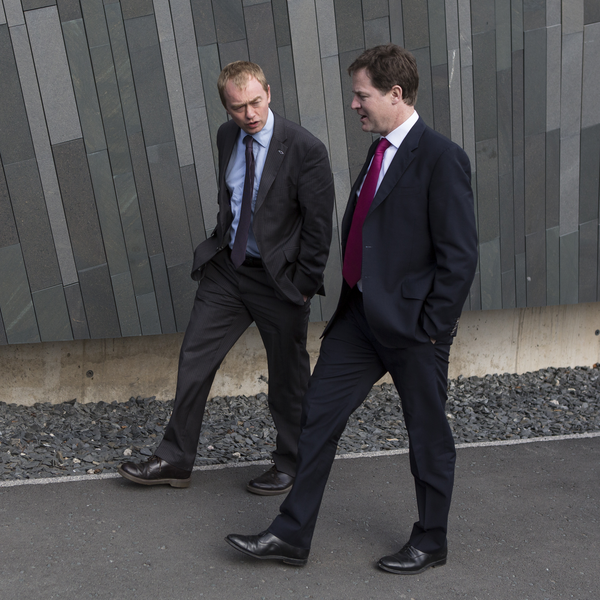 Tim Farron and Nick Clegg