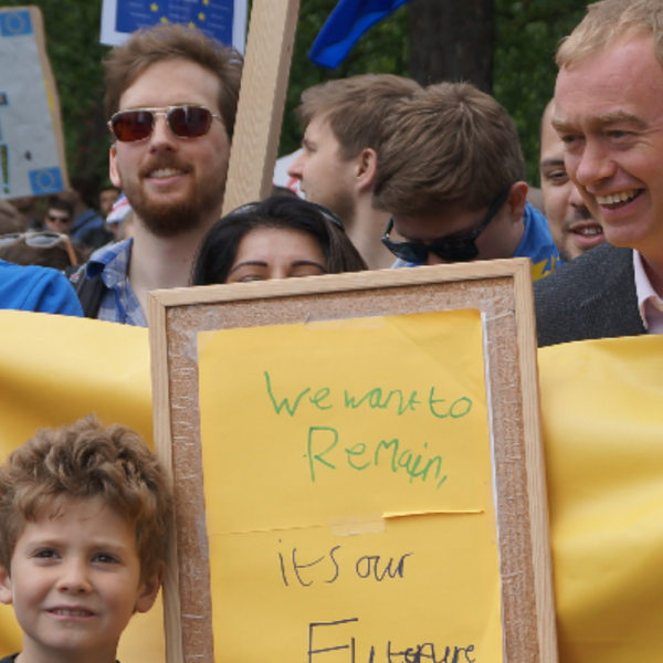 Tim Farron and Remain campaigners