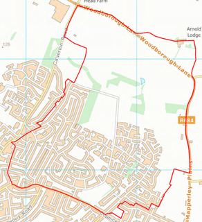 Coppice Ward Boundary (Contains Ordnance Survey data (C) Crown Copyright & database rights May 2017 Nottinghamshire County Council)