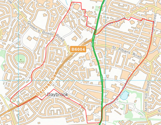 Daybrook Ward Boundary (Contains Ordnance Survey data (C) Crown Copyright & database rights May 2017 Nottinghamshire County Council)