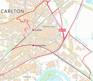 Netherfield Ward Boundary (Contains Ordnance Survey data (C) Crown Copyright & database rights May 2017 Nottinghamshire County Council)