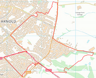 Plains Ward Boundary (Contains Ordnance Survey data (C) Crown Copyright & database rights May 2017 Nottinghamshire County Council)