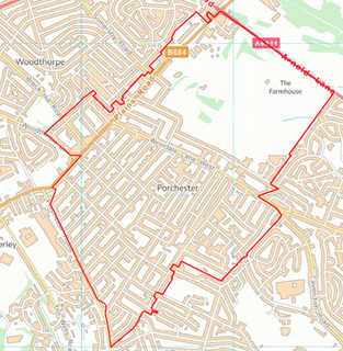 Porchester Ward Boundary (Contains Ordnance Survey data (C) Crown Copyright & database rights May 2017 Nottinghamshire County Council)